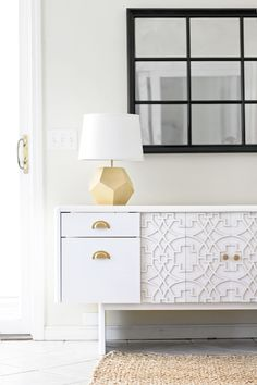 sarah m. dorsey designs: Commercial Office Credenza to Custom Credenza with Overlays