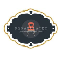 Navy & Gold Refurbished Logo - Watermark - Branding - Small Business - Paint - Blog - Boutique - Rustic - Furniture - Vintage - Antique