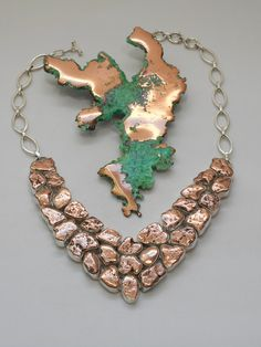 Copper Nugget Necklace 1