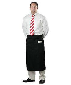 2-WAITER-SERVER-BISTRO-WAIST-APRON-BLACK-2-POCKET