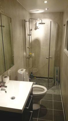 God utnytting av plass på dette lille, nyoppussede #badet.