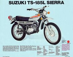this is even the same color as my wife's Trail Motorcycle, Motorcycle Museum, Enduro Motorcycle, Motorcycle Posters, Suzuki Motos, Suzuki Bikes, Vintage Motorcycles, Cars And Motorcycles, Motorcycle Manufacturers