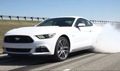 Ford Mustang reveals car's new smoke-spewing feature: A burnout button