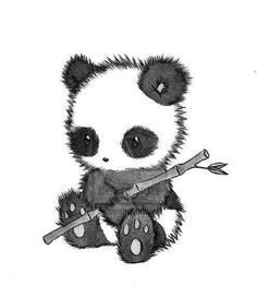 This is too adorable. I think I've found the panda image for PEYTON. She just did a research project on pandas and is a little obsessed with them now. Did you know that pandas eat up to 85 lbs of bamboo EVERY DAY? Cute Animal Drawings, Cute Drawings, Drawing Sketches, Drawing Ideas, Cute Panda Drawing, Chibi Drawing, Sketching, Panda Lindo, Panda Art