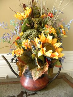 Fall Flower Arrangement Rustic