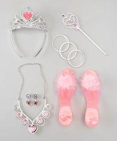 Look what I found on #zulily! Pink Crown Set #zulilyfinds