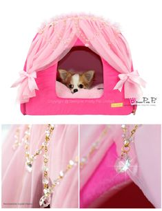 PUPPY LOVE COUTURE Princess Dog Bed, Princess House, Cardboard Cat House, Dog School, Love Couture, Designer Dog Clothes, Pink Dog, Dog Houses, Training Your Dog