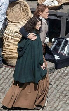 "Sam Heughan and Caitriona Balfe ~ filming #Outlander ""Dragonfly in Amber"" season 2"