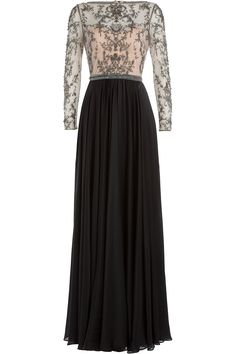 Catherine Deane - Embellished Silk Floor Length Gown