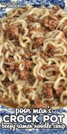 Ramen Recipes, Slow Cooker Recipes, Asian Recipes, Crockpot Recipes, Cooking Recipes, Ramen Noodle Recipes Chicken, Noddle Recipes, Ramen Noodle Soup, Essen
