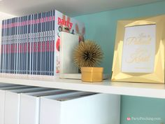 budget friendly home offices. Tiffany Blue Home Office, Pretty Office Makeover, Remodel, Budget Friendly Gold White Cra\u2026 Offices N
