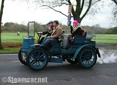 Steam Car | Jim King's 1903 Stanley type BX driven by his son Bill with rather ...