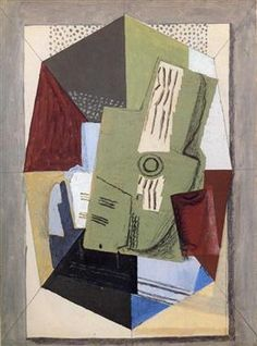 Guitar and Sheet Music on Table - Georges Braque