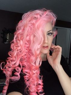 Wet-set pin curls!