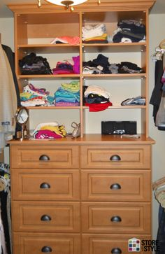 Drawers And Shelves Line The Back Wall Of This Walk In Closet. Find Out How  We Helped The Cleveland Homeowners On Our Blog: Http://storewithstyle.nu2026