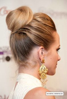 I do my hair like this all the time my version of the sock bun :)