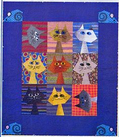 Feline Frenzy Quilt Pattern by Starry Night Hollow at Creative Quilt Kits