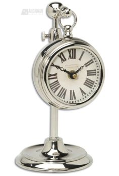 silver analog clock ... great for office!