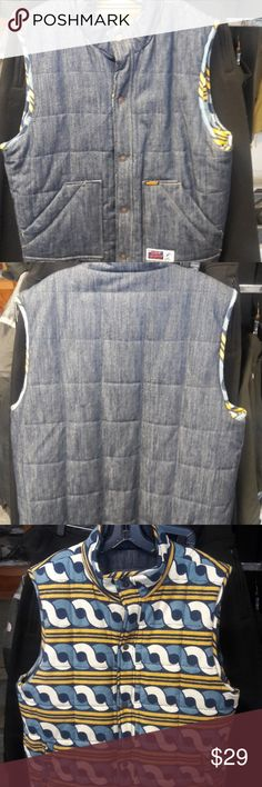 Denim vest reversible Denim vest reversible very fashionable career on both sides Weight Jackets & Coats Vests