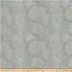 Fabricut Jacquard Linen Mola Sheers Aqua