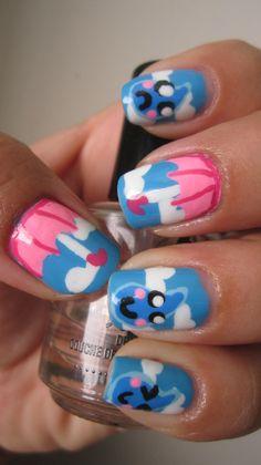 #nails #raindrops #unbrellas
