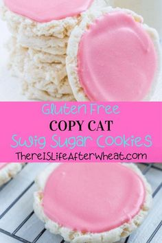 Have you tried Swig sugar cookies? They are soft and chewy sugar cookies topped with a tangy frosting, and served cold. SO GOOD. We've developed a gluten free Swig cookie copycat recipe that is every bit as good as the original and is super easy to make at home! Gluten Free Flour, Gluten Free Cookies, Swig Sugar Cookies, Best Gluten Free Desserts, Gluten Free Living, Copycat Recipes, Frosting, Super Easy, Food To Make