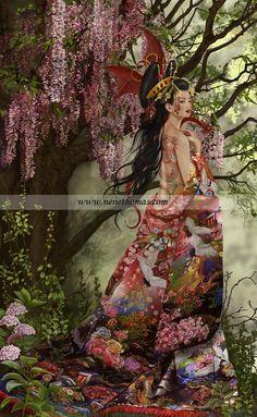 Art Geisha, Romanticism Artists, Wallpaper Wall, Art Chinois, Gothic Art, Fairy Art, Illustrations, Fantastic Art, Fantasy World