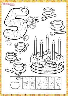 Numbers handwriting sheets for kids Numbers Preschool, Math Numbers, Learning Numbers, Preschool Lessons, Preschool Worksheets, Kindergarten Math, Math Lessons, Teaching Math, Learning Activities