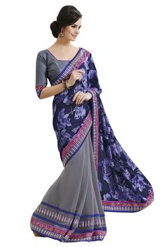 Purple designer party wear sarees online from hdbazaar