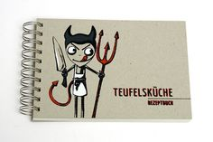 Teufelsküche ››› Rezeptbuch Present Gift, Notebook, Presents, Etsy, Gifts, Diary Notebook, Creative, Craft, Gifs
