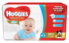 Huggies Natural Care Niños Med/S2 Mega Sistema de Protección 48 unidades.