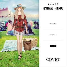 Festival Friends, Style Challenge, Covet Fashion, Camilla, Sunnies, Skater Skirt, Sequin Skirt, My Style, Lady