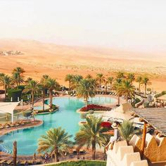 Morning views from the #QasrAlSarabDesertResort of AbuDhabi. // Travel Well #TravelFly! / #TravelFlyHotels