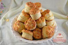 Pihe-puha sajtos pogácsa Scones, Muffin, Food And Drink, Sweets, Snacks, Cookies, Breakfast, Ethnic Recipes, Desserts