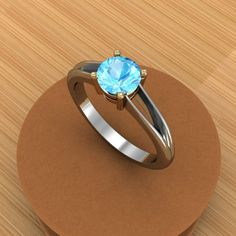 Swiss blue topaz ring... I would absolutely love for this to be my wedding ring