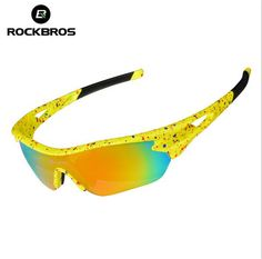 ROCKBROS Cycling Glasses Men Women's Outdoor Sports Bike Bicycle Glasses Colorful Windproof Riding Eyewear Sunglasses #Affiliate