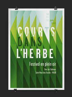 A poster for an outdoor festival at Abbey Park, Saint Maur des Fossés. Design by Atelier Les Graphiquants.