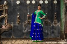 Green Blue Sharara @Sarah Chintomby Therese Paisleys
