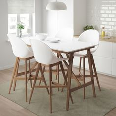 FANBYN Bar table and 4 bar stools – white, white – IKEA – desinghandmade Bar Table And Stools, Bar Table Sets, Patio Bar Set, Bar Chairs, Dining Chairs, Bar Tables, High Chairs, White Bar Table, Small Bar Table
