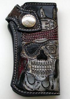 ☠ Pirate Chopper Wallet from Biker Ring Shop ☠