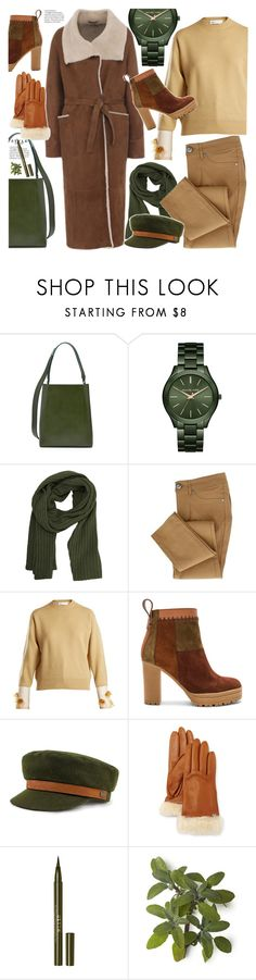 """Winter (дубленка)"" by lyusilgrig ❤ liked on Polyvore featuring Calvin Klein 205W39NYC, Michael Kors, MANGO, Toga, See by Chloé, UGG Australia and Stila"