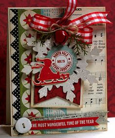 christmas--do with silhouette, stampin' up circle, and music background stamps