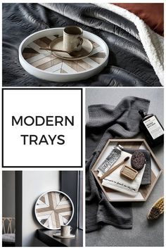 Looking for new tray ideas? These modern decor trays will be perfect as a bedroom tray, kitchen tray, dessert tray, dining table tray. Decorating a tray has never been so easy as it complements everything that you put on it! Table Tray, Dining Table, Kitchen Tray, Dessert Tray, Wooden Serving Trays, Dream House Plans, Wooden Decor, Love Home, Tray Decor