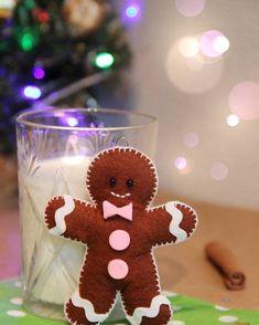 Gingerbread Man. Felt Food. А у меня случился забавный пряничный человечек