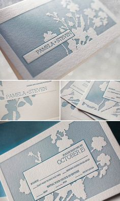 Sweet Serenade letterpress wedding invitation by Bella Figura