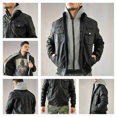 The cool guy!!!! Ανδρικό μαύρο μπουφάν από δερματίνη με κουκούλα φούτερ.  #metaldeluxe #fashion #mensfashion #mensclothes #newarrivlas #shopping #onlineshopping #leather #jacket #leatherjacket