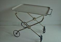Antique Enamel Medical / Hospital Cart by FarmAndFactory on Etsy, $975.00