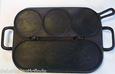 Cast Iron Stuart Peterson 1869 Patent Flip Top Griddle Pan