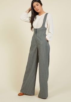 Nostalgic Knowledge Pants. Flaunting these checkered trousers is more than just showcasing your bold style - it's a demonstration of your vintage-inspired know-how! #green #modcloth