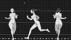 Animated walks and runs on Vimeo